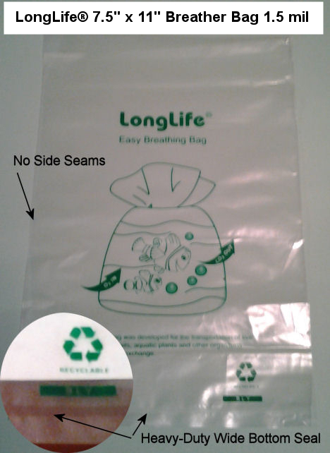 LongLife 7.5 x 11 Breather Bag