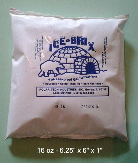 One Pound Polar Tec ICE-BRIX Gel Ice Shipping Packs